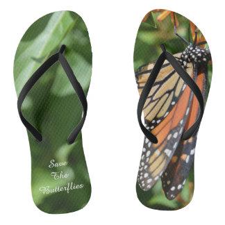 Save the Butterflies Flip Flops