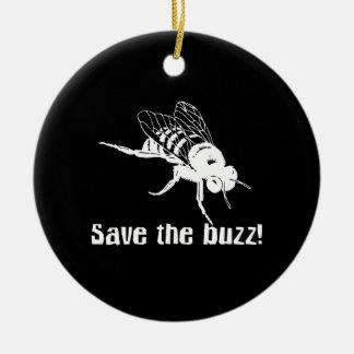 Save the Buzz Ceramic Ornament