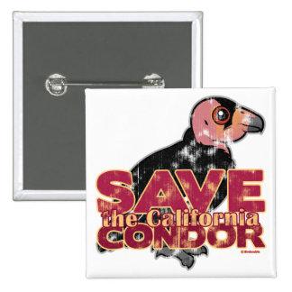 Save the California Condor Button