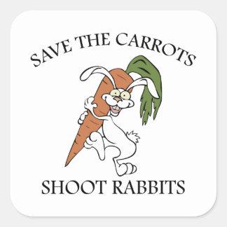 Save The Carrots Shoot Rabbits Square Sticker