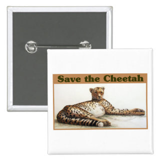 Save the Cheetah 2 Inch Square Button