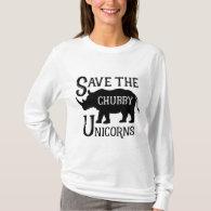 Save the Chubby Unicorn Wildlife Conservation T-Shirt