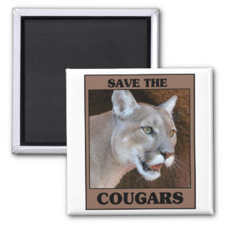 Save the Cougar 2 Inch Square Magnet