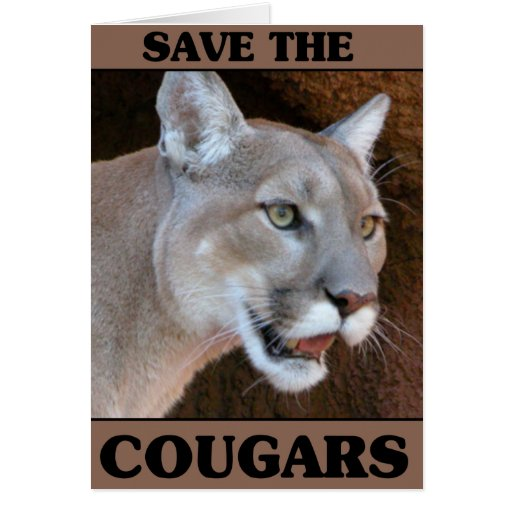 Save the Cougar Greeting Card
