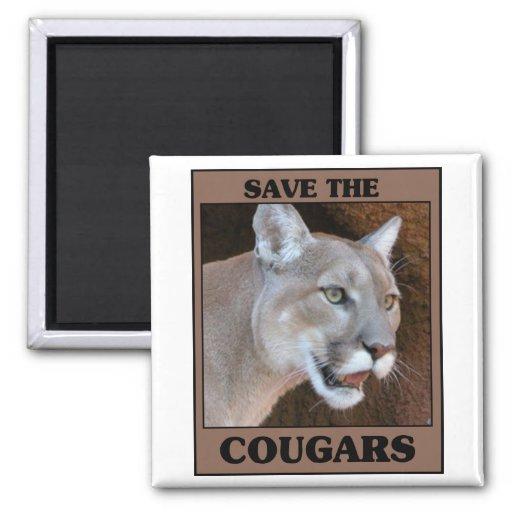 Save the Cougar Fridge Magnets