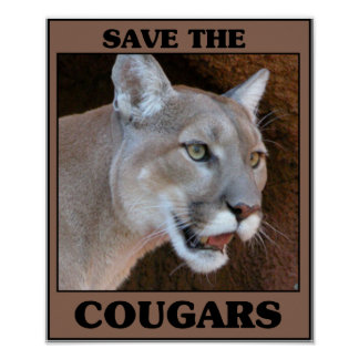 Save the Cougar Poster