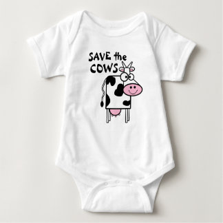 Save The Cows Cute Animal Print Infant Creeper