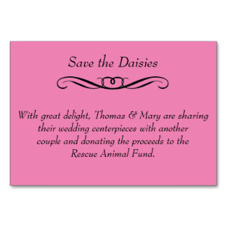 Save the Daisies - Wedding Table Placecards Card