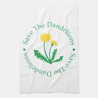 Save The Dandelions Kitchen Towels