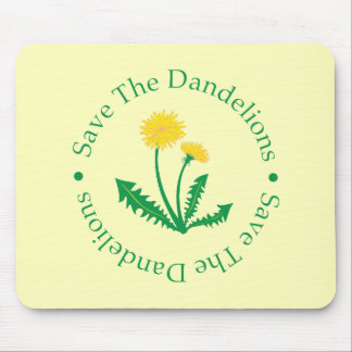 Save The Dandelions Mouse Pad