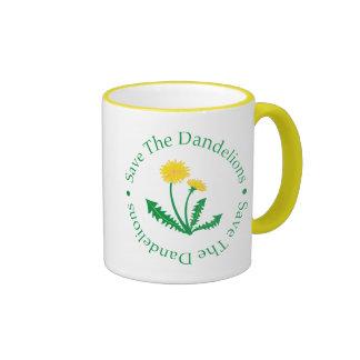 Save The Dandelions Ringer Coffee Mug