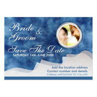 Save the Date #01 Card Large Business Cards (Pack Of 100)