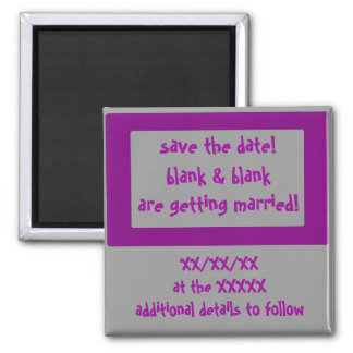 save the date! 2 inch square magnet