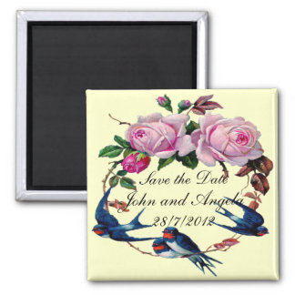 Save the Date 2 Inch Square Magnet