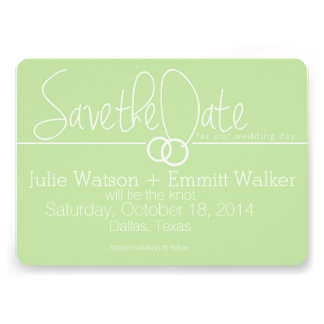 Save the Date + 2 Wedding Rings Card