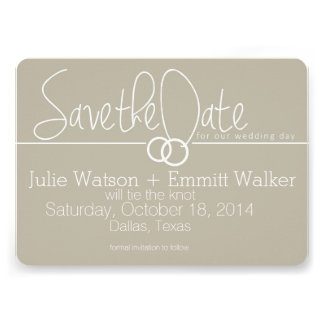 Save the Date + 2 Wedding Rings Announcement