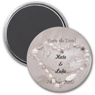 Save the Date 3 Inch Round Magnet
