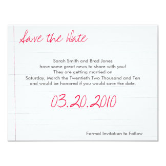 Save the Date 4.25x5.5 Paper Invitation Card