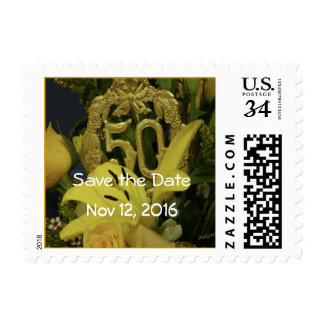 Save the Date 50th Anniversary Stamp- customize Postage