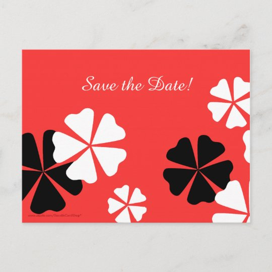 save the date 50th birthday party red postcard zazzle com
