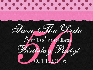 50th birthday save the date postcards zazzle