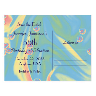 Save the Date 55th Birthday Celebration Postcard