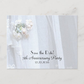 Save the Date 5th Wedding Anniversary Announcement