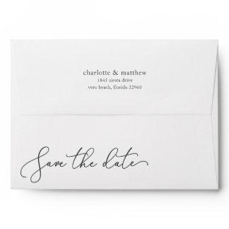 Save the Date 5x7 Return Address Envelope
