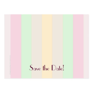 Save the Date 60th Birthday Party, Pastel Stripes Postcard