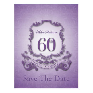 Save the Date  60th Birthday Personalized Postcard