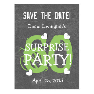 Save the Date 60th Surprise Birthday S60D SILVER Postcard