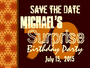 save the date surprise party postcards zazzle
