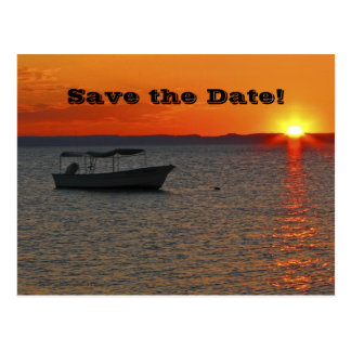 Save the Date 80th Birthday Party, Fishing Boat Postcard