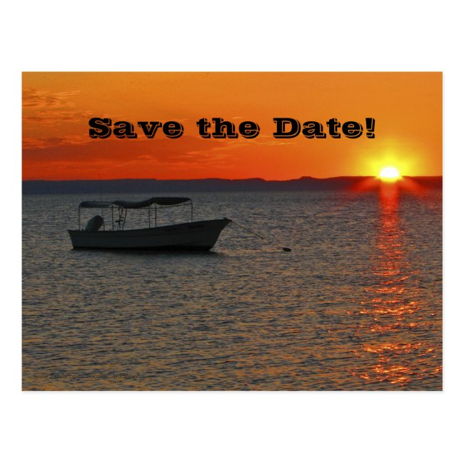 Save the Date 80th Birthday Party, Fishing Boat