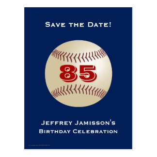 Save the Date 85th Birthday Baseball Postcard