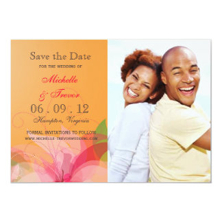 Save the Date - Abstract Floral Photo Invites