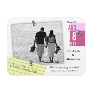 Save The Date Add photo Magnet Note Pin