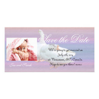 Save the date,add your own photo personalized photo card
