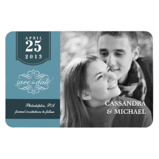 Save the Date - Add Your Photo Custom Wedding Rectangular Photo Magnet