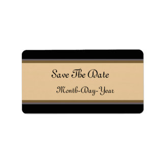 Save The Date Address Label
