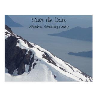 Save the Date Alaskan Cruise Postcard