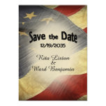 Save the Date American Flag Magnetic Card