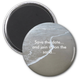 Save the date...and join us on the sand... fridge magnets