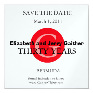 Save the Date Anniversary Invitation