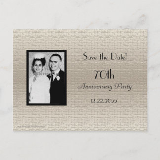 Save the Date Anniversary Photo Announcement