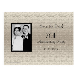 Save the Date Anniversary Photo Announcement Postcard