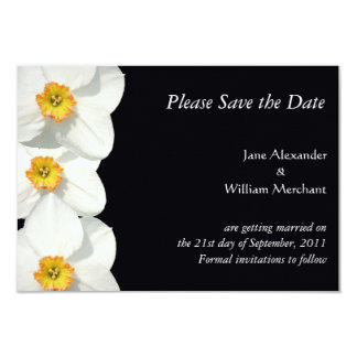 Save the Date Announcement Daffodil / Narcissus