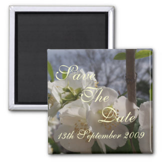 Save The Date Announcement Fridge Magnet Blossom