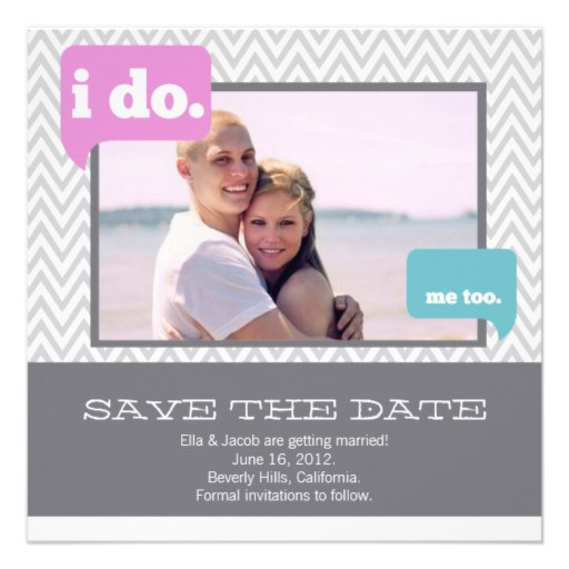 Save the Date Announcement  // He says, she says.