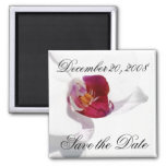Save the Date Announcement Orchid Magnet Refrigerator Magnet